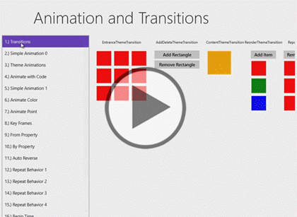 Windows 8 Using XAML, Part 08: Animation Trailer