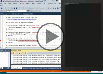 Windows 8 Using HTML5 and JS, Part 3: Process Mgmt Trailer