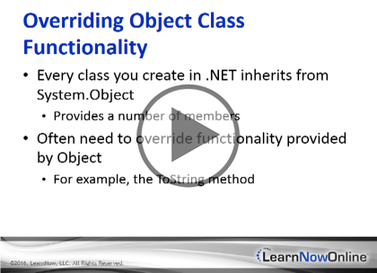 Programming C# 6, Part 09: Objects and Types Trailer