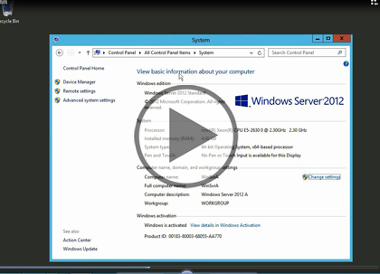Windows Server 2012, Part 1: Installing and Core  Trailer