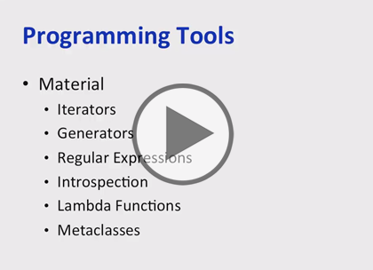 Python 3, Part 5: Programming Tools Trailer