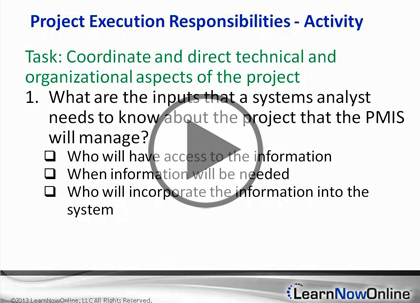 Project Management, Part 6: Executing a Project
