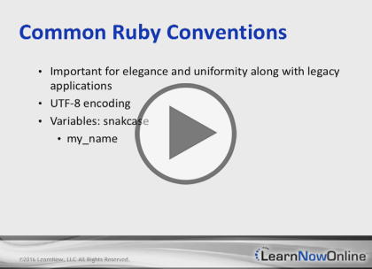 Ruby, Part 1: Introduction and Classes  Trailer