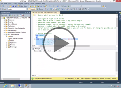 SQL 2014 Admin, Part 2: Automating, Management, and Config Trailer