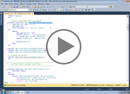 SQL 2012 Developer, Part 03: Functions Trailer