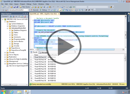 SQL 2012 Developer, Part 13: Working with XML