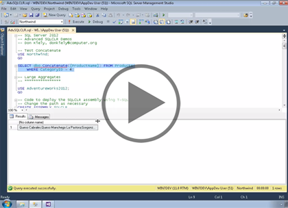 SQL 2014 Developer, Part 06: Advanced SQL CLR