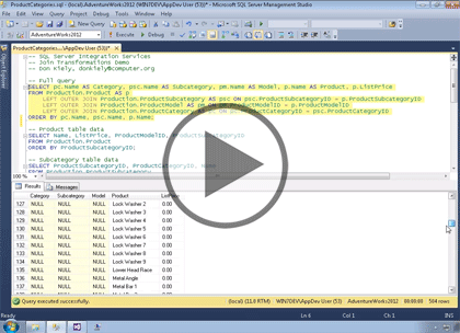 SSIS 2014, Part 05: Join Transformations Trailer