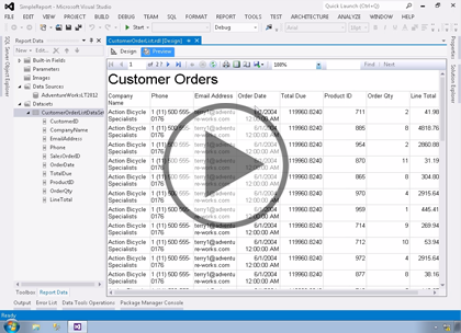 SSRS 2014, Part 02: Creating Reports