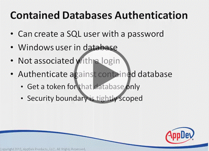 SQL Server 2014, Part 5: Security Basics Trailer