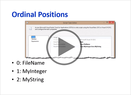 SSIS 2012, Part 07: Scripting Components Trailer