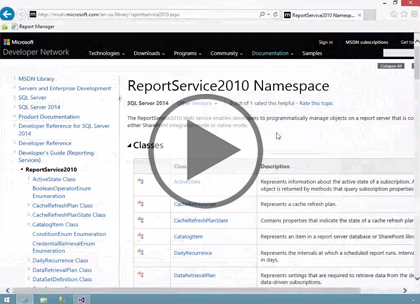 SSRS 2014, Part 08: Web Service Programming Trailer