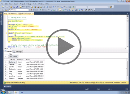 SQL Server 2012, Part 7: Introduction to T-SQL Trailer