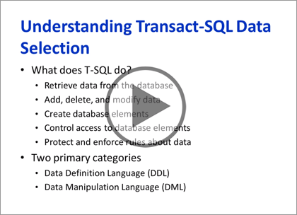 SQL Server 2012, Part 8: T-SQL Select, Where, and Clauses