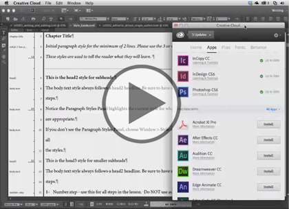 InCopy CC, Part 3: Copyfit, Symbols and Templates Trailer