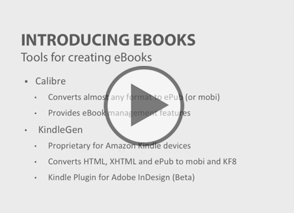 eBook Essentials, Part 2: Creating an ePub