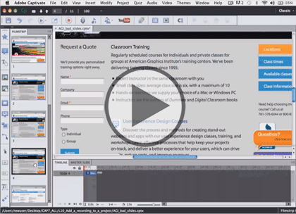 Adobe Captivate 7, Part 6: Audio and Video Trailer