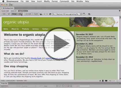 Dreamweaver CC, Part 5: Navigation and Transitions Trailer