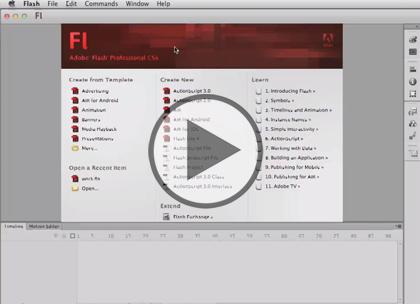 Flash Professional CS6, Part 3:  Animation & Tween