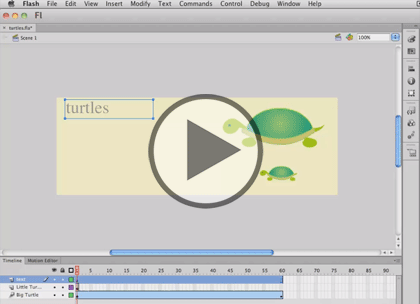 Flash Professional CS6 Tips, Part 2: Animation