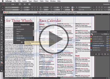 InDesign CC In-Depth, Part 2: Styles and Libraries