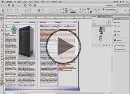 InDesign CS6, Part 03: Correcting Documents Trailer