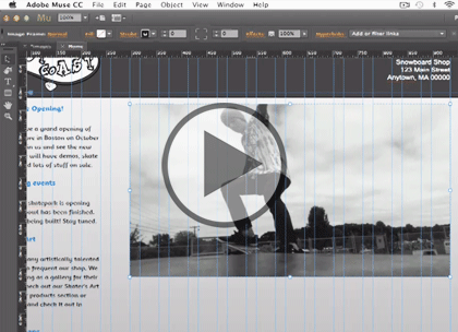 Adobe Muse CC, Part 3: Text, Images and Hyperlinks