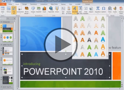 PowerPoint 2010, Part 2: Slides, Media and Present Trailer