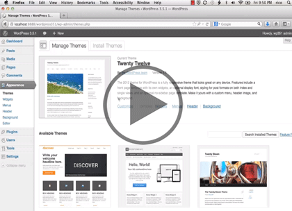 WordPress CMS, Part 2: Themes Trailer